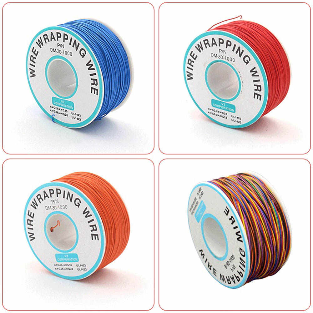 Newly Breadboard P/N B-30-1000Tin Plated Copper Wire Wrapping 30AWG Cable 305M 999