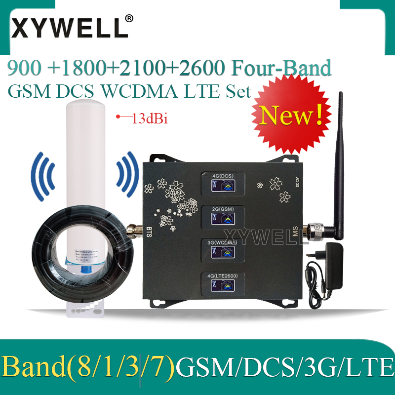 2020 New!! Four-Band 900 1800 2100 2600 2G 3G 4G Mobile signal Booster 4G Cellular Amplifier 4g Repeater GSM DCS WCDMA LTE 1