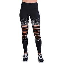 Grazie filipeti novo preto leggings feminino ms buraco de cintura alta diamante decoração esportes execução push ups cintura yoga calças