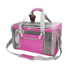 Shoulder Bag Pet Carrier Breathable Handbag Travel Tote for Puppy Dog Cat Mesh Sling Carry Pack