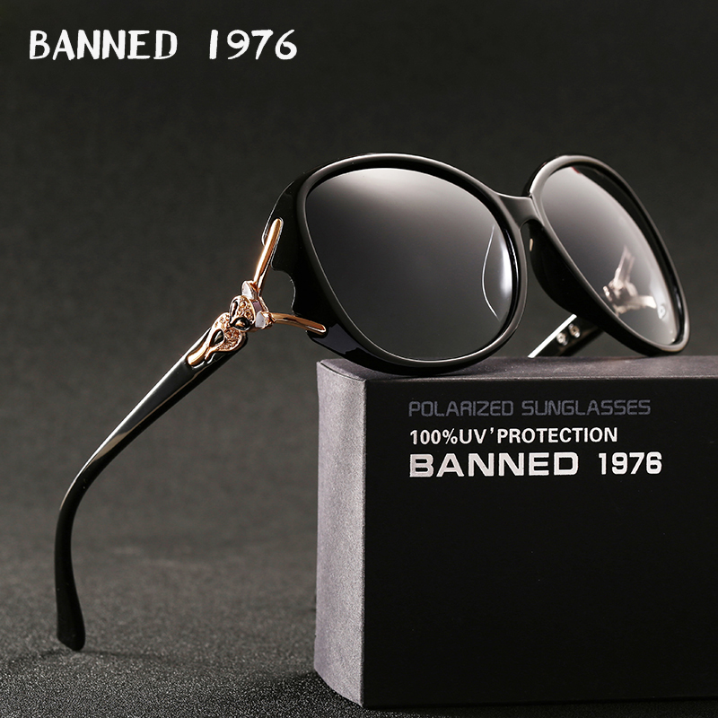 BANNED 1976 luxury women polarized fashion Sunglasses new lady's uv protection feminin cool sun Glasses vintage gafas de sol image