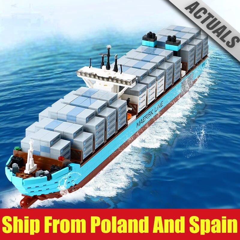 Oyuncaklar ve Hobi Ürünleri'ten Bloklar'de DHL 22002 Teknİk Serisi 1518 Adet Ile Uyumlu Yeni 10241 Kargo Konteyner Gemisi Seti Modeli Yapı Taşları Tuğla Oyuncaklar hediyeler'da  Grup 1