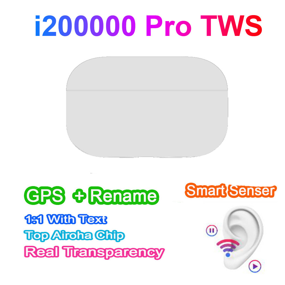 The new <font><b>i200000</b></font> Pro TWS wireless Bluetooth headset <font><b>GPS</b></font> renamed for Apple Android Samsung pk i90000 i300000 i50000 i100000 image