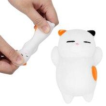 Милая мягкая игрушка, 4 цвета, антистрессовые игрушки для снятия стресса, Kawaii, мягкая игрушка-кот для детей и взрослых, Прямая поставка