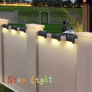 1/4/8X Solar Powered Fence Deck Lights Wall Step Stairs LED Outdoor Waterproof Lamp Garden Decro Lamp Step Light Landscape Light