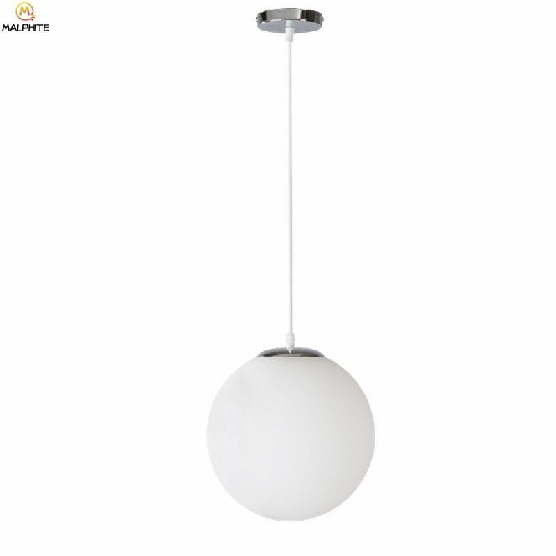 Nordic Weiß Glas Ball Anhänger Lichter Moderne LED Wohnzimmer Hanglamp Anhänger Lampe Restaurant Bar Gang Blase Ball Leuchte