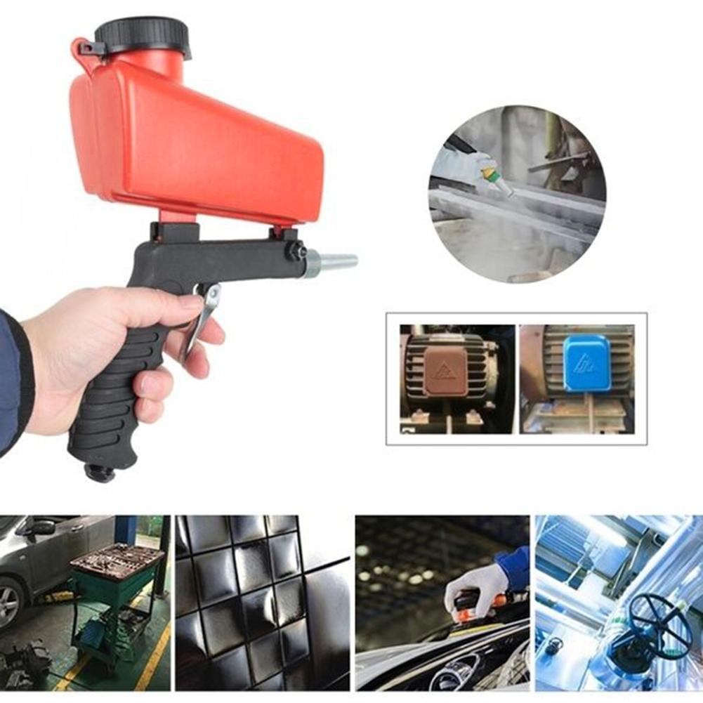 90psi Gravity Sandblasting Spray Gun Miniature Pneumatic Sand Blasting Machine Rust Blasting Device Adjustable Home DIY Tool