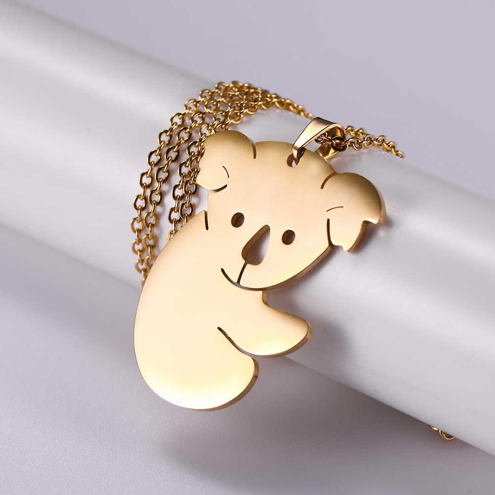 Skyrim חמוד קואלה בעלי החיים תליון שרשרת נירוסטה זהב ראשוני קולר שרשרת שרשראות תכשיטי זיכרון מתנה עבור נשים