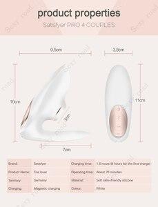 Image 2 - Germany Satisfyer Pro 4 Rechargeable Couples Sucking Vibrator Clitoris Stimulation Sucker G Spot Stimulator sex Toys for Woman