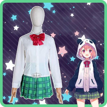 Hololive VTuber GAMERS YouTuber Sasaki Saku Cosplay Costumes Women Casual Outfits Top Skirts Coat Halloween Uniforms Custom Made 5