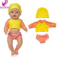Girl Doll Skirt Bikini Baby American 18inch Summer Cloth 40cm 43cm Swim Cartoon Og