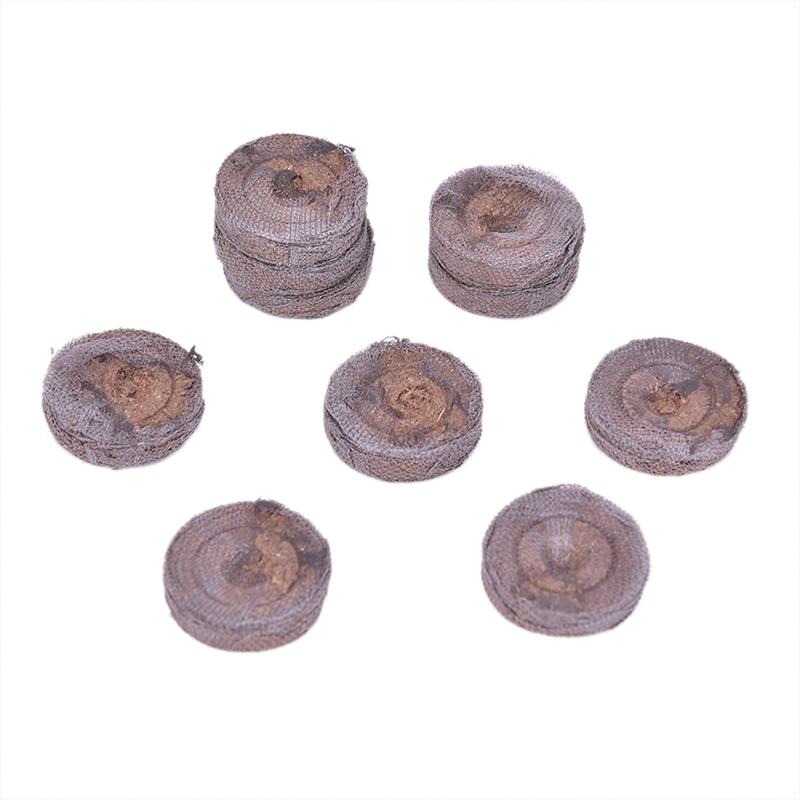 5Pcs 30mm Count Jiffy Peat Pellets Nutrient Substance Medium Seedling Soil Block Seed Starting Plugs Seeds Starter Pallet