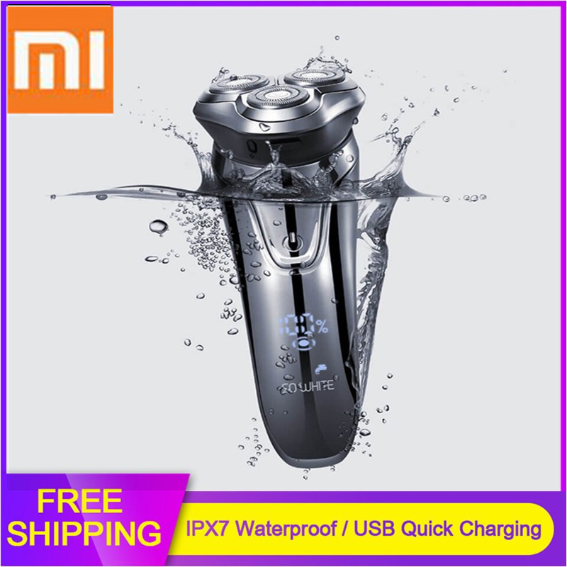 Xiaomi SOOCAS SO WHITE ES3 USB Rechargeable Electric Shavers For Men 3 Head Electric Razor Beard Trimmer Shaving Machine