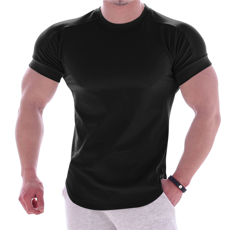Men Summer Style Fashion T-shirts Fitness And Bodybuilding Slim Fit T Shirt Leisure Gyms T-shirt