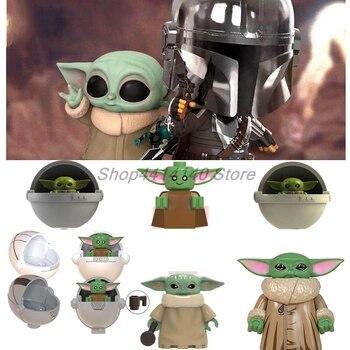 Único Starwars bebé Yoda las figuras mandalorianas caballeros de ren Star Wars bloques de construcción ladrillos juguetes educativos para niños