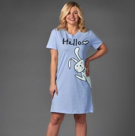 Atoff Home Women's Shirt ZHS 022 (blue/pink)