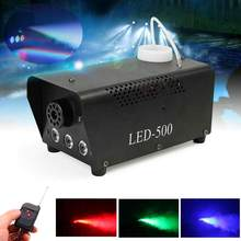 500W Draadloze Rook Rookmachine Rgb Led Remote Dj Disco Party Club Light Witte Rook Licht Stage Led Fogger ejector Mist Effect(China)