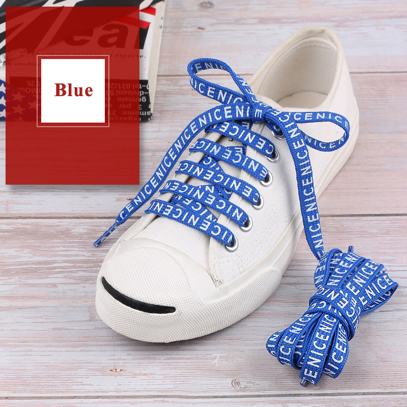 1 Pair Printing Letter Casual Shoelaces Fashion Flat Shoe Lace Unisex Canvas Sneakers Shoelaces High Quality Sport Shoe Laces