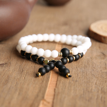 YUOKIAA Natural Bead Bracelet Men 8mm Stone Double layer Bracelets Fashion Bohemian Jewelry Yoga Prayer Beads Bracelets fashion men 6mm bead bracelets classic natural matte stone beads charm handmade bracelet