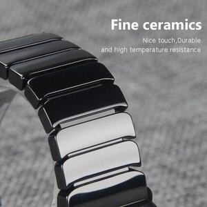 Image 4 - เซรามิคสำหรับAppleนาฬิกา44มม.40มม.Iwatch 42มม.38มม.หัวเข็มขัดสแตนเลสLinkสร้อยข้อมือApple Watch 6 SE 5 4 3