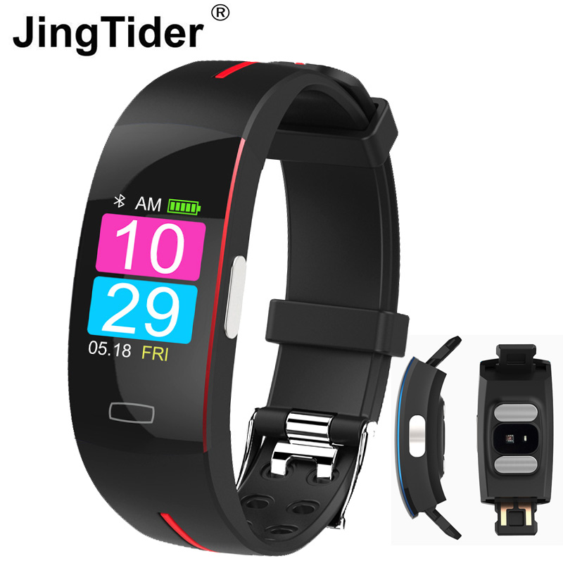 JingTider <font><b>P3</b></font> <font><b>Smart</b></font> Wristband ECG+PPG Heart Rate Blood Pressure Sport <font><b>Smart</b></font> Bracelet IP67 Waterpoof Fitness Tracker <font><b>Smart</b></font> <font><b>Band</b></font> image