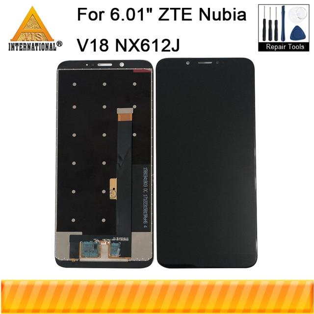 """מקורי 6.01 """"עבור ZTE נוביה V18 NX612J Axisinternational LCD תצוגת מסך + מגע Digitizer לוח עבור נוביה V18 NX612J מסך"""
