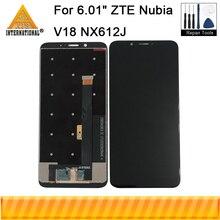 """オリジナル 6.01 """"zte ヌビア V18 NX612J axisinternational 液晶表示画面 + タッチパネルデジタイザヌビア V18 NX612J 画面"""