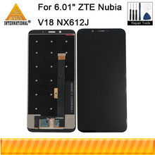 "Original 6.01"" For ZTE Nubia V18 NX612J Axisinternational LCD Display Screen+Touch Panel Digitizer For Nubia V18 NX612J Screen"