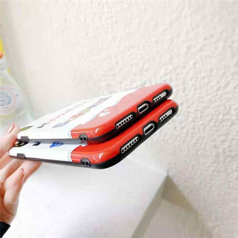3D super divertido Jianda Kinder ovo surpresa anti-queda de silicone capa mole para o iphone MAX XR XS 6 7 8 mais casos de telefone X