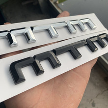 лучшая цена MTM Refit ABS Car Styling Sticker Auto Badge Emblem Decal For German automobile Audi A1 A2 A3 A4 A4L S3 Golf Polo Skoda CC
