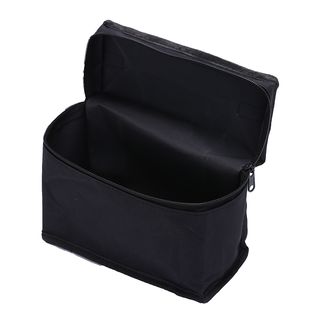 5Sizes Large Capacity Makeup Bag Zipper Black Folding Canvas Cosmetic Bag Art Markers Zipper Hold Markers Pen