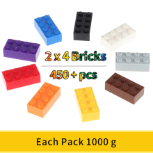 2x4 Classic Bricks Small Building Blocks Creative Assembly City Bricks Technic Toys For Children Comaptible Small Size Blocks