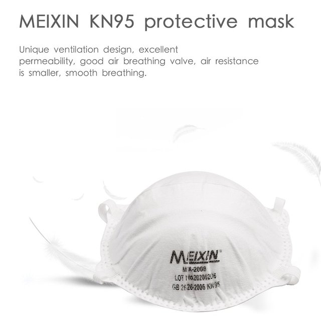 1Pcs KN95 Safety Protective Mask Dust Masks Anti-Particles Anti Bacteria PM2.5 Anti Flu Mask FFP2 Mouth Mask 1