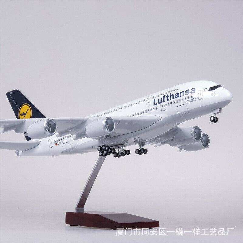 1/160 Lufthansa Airbuss A380 Passenger Aircraft Model Light&Sound German Airlines
