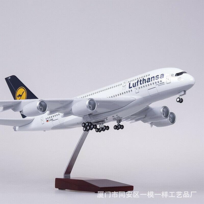 1/160 Lufthansa Airbuss A380 Passenger Aircraft Model Light&Sound German Airlines