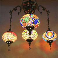 Bohemia turkish mosaic pendant lamps Stained Glass Moroccan Pendant Light Corridor Stairwell Cafe Restaurant Hanging Light Lamp