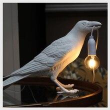 LED Night Light Designer Bird Lamp Bird Wall Light Modern Table Lamp Home Decor Art Light Fixtures Gift USB Powered