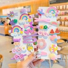 1 Conjunto de Niños de dibujos animados lindo flores frutas de bandas de goma horquillas niñas encantador pelo Clips bandas para el pelo niños pelo accesorios regalo