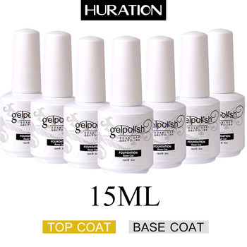 Huration New  Base + Top Coat Gel Nail Polish Color Top Base Coat Gel Varnish UV Soak-off Semi-permanent Varnish Gel Nail Polish 86102 soak off primer gel gdcoco 8ml nail polish base coat top coat matte gel varnish ultra bond no acid primer hybrid basegel