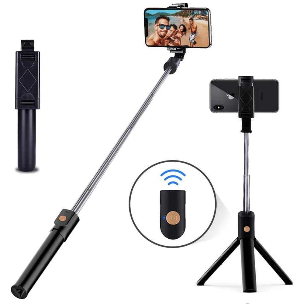 Trépied pour perche à Selfie, monopode extensible avec télécommande Bluetooth pour Xiaomi Mi Redmi Huawei Honor iPhone Samsung