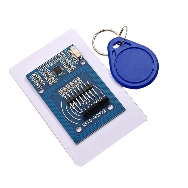 Free shipping 50pcs  RC 522 RC522 RFID Antenna IC Wireless Module For Ardu KEY IC SPI Writer IC Card Reader Proximity module