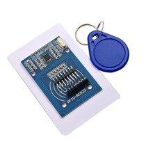 Il trasporto libero 50pcs RC 522 RC522 Antenna RFID IC Modulo Senza Fili Per Ardu CHIAVE IC SPI Writer IC Card Reader di prossimità modulo