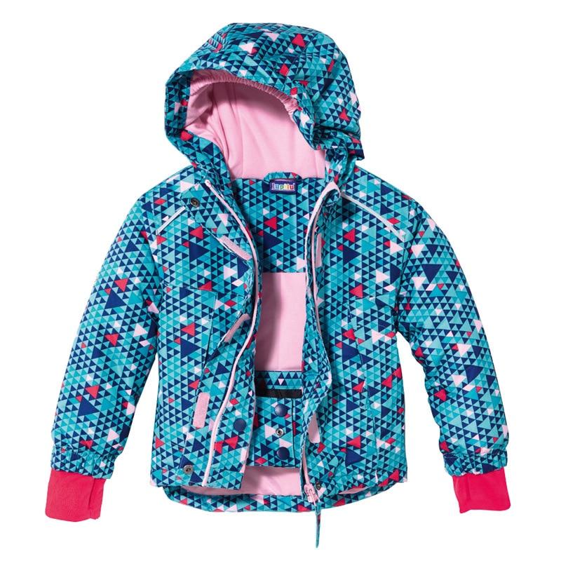 2019 New Style Outdoor Children's Ski Suit Boys Padded Plus Velvet Thick Raincoat