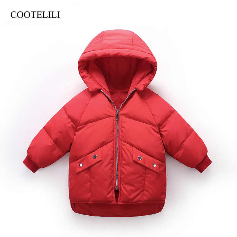 COOTELILI  Winter Duck Down Winter Infant Jackets Kids Girls Coat Warm Baby Girl Clothes For Children Winter Girls Boys Coat
