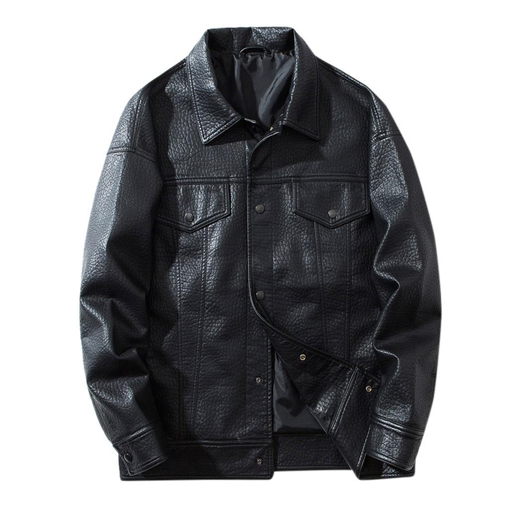 Jacket Coat Outwear Motorcycle Autumn Winter Casual Support Biker Zipper Men