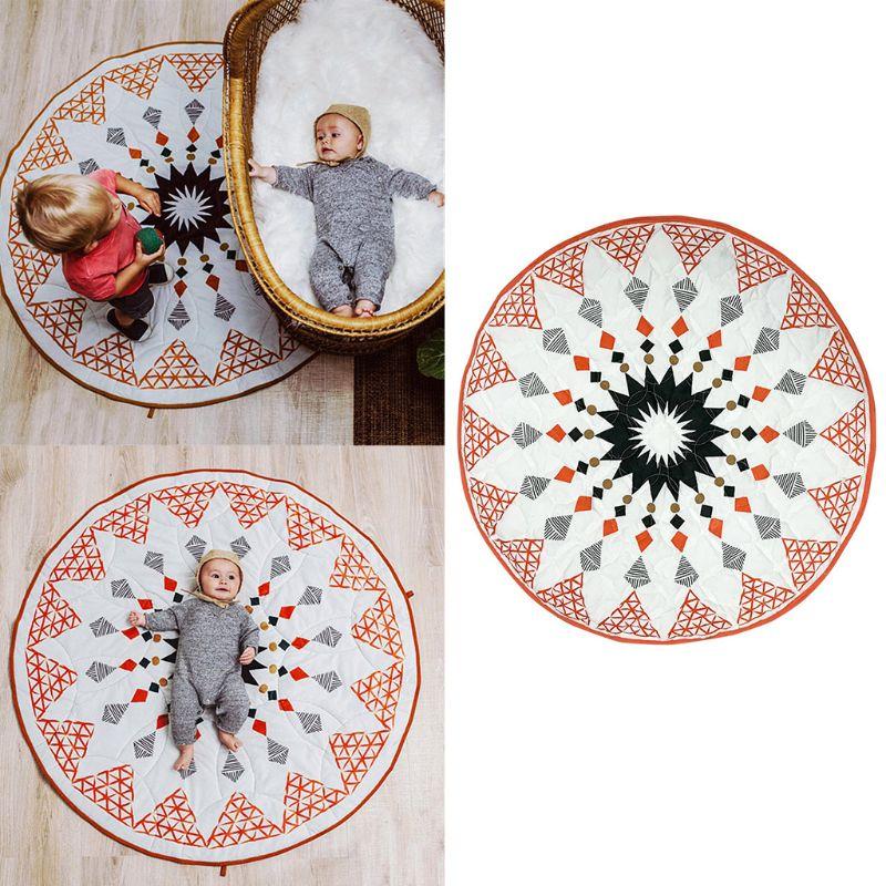 Geometric Rhombusd Kids Baby Crawling Mat Children Room Decoration Game Pad