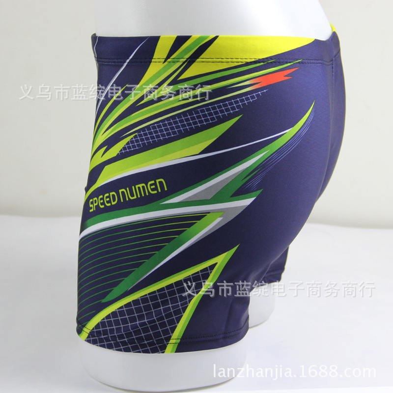 2018 New Style Fashion Men-Style Quick-Dry Swimming Trunks Students Teenager Conservative Boxer Swimwear
