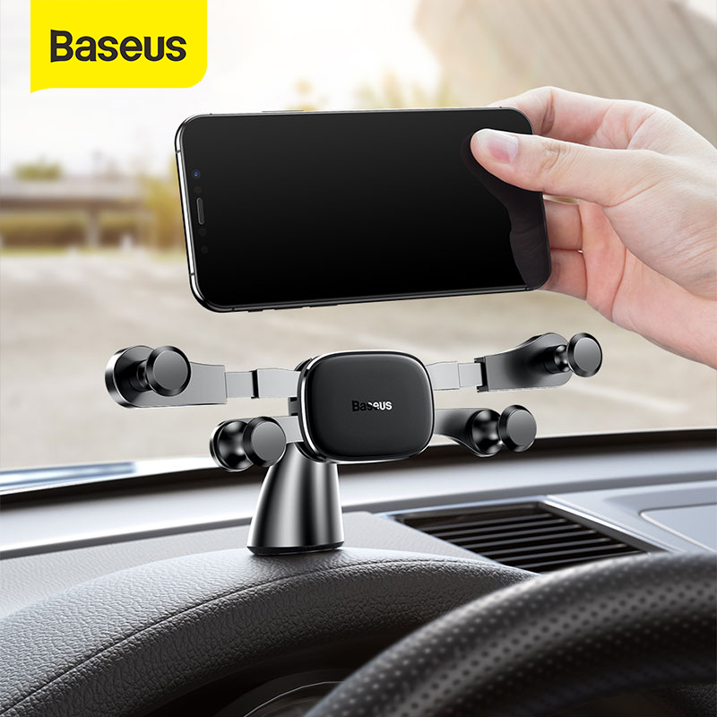 Baseus Dashboard Car Phone Holder For IPhone Huawei Samsung Xiaomi Gravity Phone Stand In Car Support Smartphone Voiture Holder