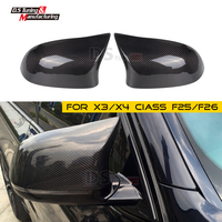 Replacement Rearview Mirror Shell for BMW X3 F25 X4 F26 X5 F15 X6 F16 Carbon Fiber Rear Side View Mirror Cover