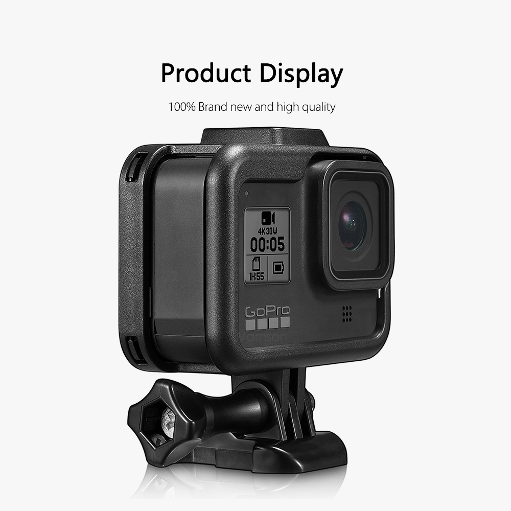 Vamson for GoPro Hero 8 Black Frame Case Border Protective Cover Tempered Glass Screen Protective for GoPro Accessories VP652